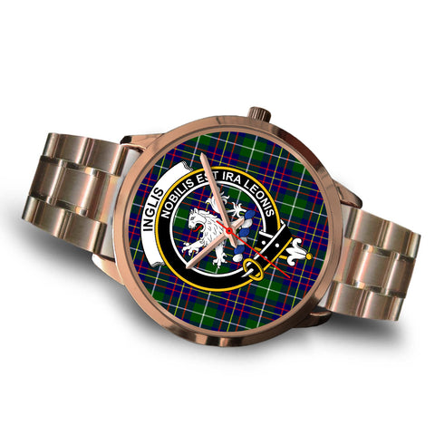 Inglis Modern, Brown Leather Watch,  leather steel watch, tartan watch, tartan watches, clan watch, scotland watch, merry christmas, cyber Monday, halloween, black Friday