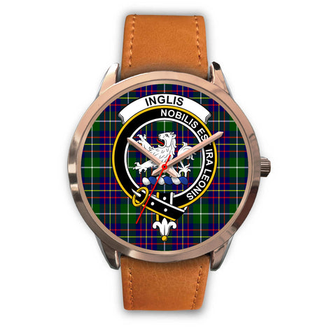 Inglis Modern, Pink Leather Watch,  leather steel watch, tartan watch, tartan watches, clan watch, scotland watch, merry christmas, cyber Monday, halloween, black Friday