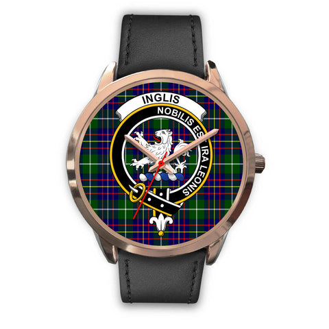 Inglis Modern, Black Metal Mesh Watch,  leather steel watch, tartan watch, tartan watches, clan watch, scotland watch, merry christmas, cyber Monday, halloween, black Friday