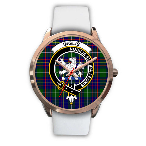 Inglis Modern, Black Metal Link Watch,  leather steel watch, tartan watch, tartan watches, clan watch, scotland watch, merry christmas, cyber Monday, halloween, black Friday