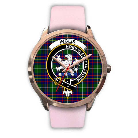 Image of Inglis Modern, Silver Metal Mesh Watch,  leather steel watch, tartan watch, tartan watches, clan watch, scotland watch, merry christmas, cyber Monday, halloween, black Friday