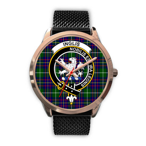 Inglis Modern, Silver Metal Link Watch,  leather steel watch, tartan watch, tartan watches, clan watch, scotland watch, merry christmas, cyber Monday, halloween, black Friday