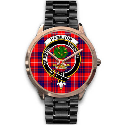 Image of Hamilton Modern, Rose Gold Metal Mesh Watch,  leather steel watch, tartan watch, tartan watches, clan watch, scotland watch, merry christmas, cyber Monday, halloween, black Friday