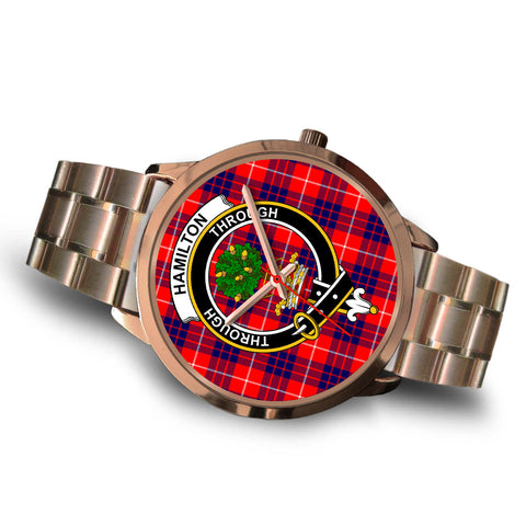 Hamilton Modern, Brown Leather Watch,  leather steel watch, tartan watch, tartan watches, clan watch, scotland watch, merry christmas, cyber Monday, halloween, black Friday