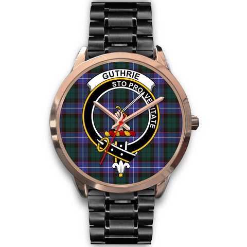 Image of Guthrie Modern, Rose Gold Metal Mesh Watch,  leather steel watch, tartan watch, tartan watches, clan watch, scotland watch, merry christmas, cyber Monday, halloween, black Friday