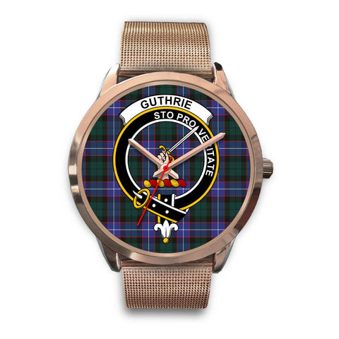 Guthrie Modern, Black Leather Watch,  leather steel watch, tartan watch, tartan watches, clan watch, scotland watch, merry christmas, cyber Monday, halloween, black Friday