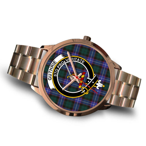 Guthrie Modern, Brown Leather Watch,  leather steel watch, tartan watch, tartan watches, clan watch, scotland watch, merry christmas, cyber Monday, halloween, black Friday