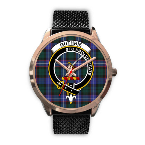 Guthrie Modern, Silver Metal Link Watch,  leather steel watch, tartan watch, tartan watches, clan watch, scotland watch, merry christmas, cyber Monday, halloween, black Friday