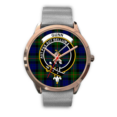 Gunn Modern, Rose Gold Metal Link Watch,  leather steel watch, tartan watch, tartan watches, clan watch, scotland watch, merry christmas, cyber Monday, halloween, black Friday