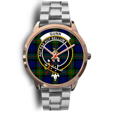 Gunn Modern, Brown Leather Watch,  leather steel watch, tartan watch, tartan watches, clan watch, scotland watch, merry christmas, cyber Monday, halloween, black Friday