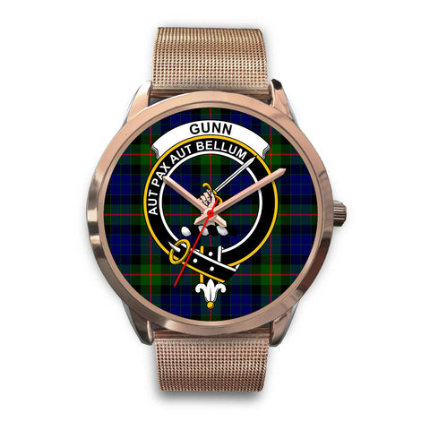 Gunn Modern, Black Leather Watch,  leather steel watch, tartan watch, tartan watches, clan watch, scotland watch, merry christmas, cyber Monday, halloween, black Friday
