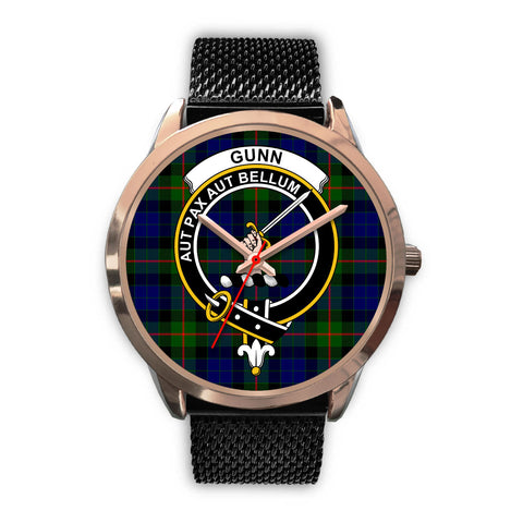 Gunn Modern, Silver Metal Link Watch,  leather steel watch, tartan watch, tartan watches, clan watch, scotland watch, merry christmas, cyber Monday, halloween, black Friday