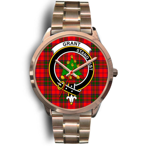 Grant Modern, Rose Gold Metal Link Watch,  leather steel watch, tartan watch, tartan watches, clan watch, scotland watch, merry christmas, cyber Monday, halloween, black Friday
