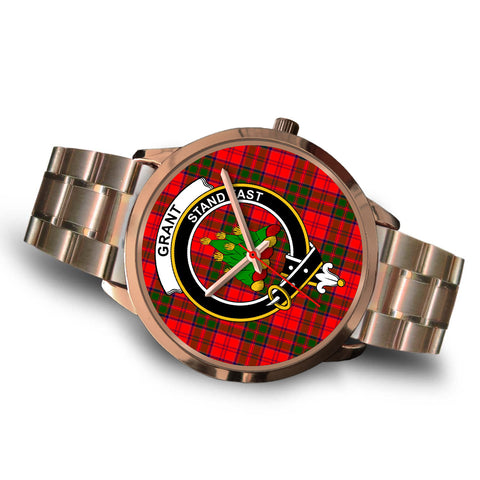 Grant Modern, Brown Leather Watch,  leather steel watch, tartan watch, tartan watches, clan watch, scotland watch, merry christmas, cyber Monday, halloween, black Friday