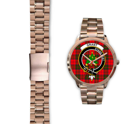 Grant Modern, Black Leather Watch,  leather steel watch, tartan watch, tartan watches, clan watch, scotland watch, merry christmas, cyber Monday, halloween, black Friday