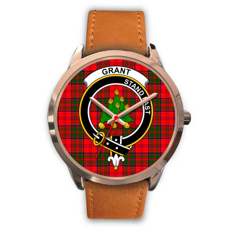 Grant Modern, Pink Leather Watch,  leather steel watch, tartan watch, tartan watches, clan watch, scotland watch, merry christmas, cyber Monday, halloween, black Friday