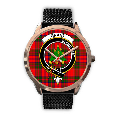 Grant Modern, Silver Metal Link Watch,  leather steel watch, tartan watch, tartan watches, clan watch, scotland watch, merry christmas, cyber Monday, halloween, black Friday