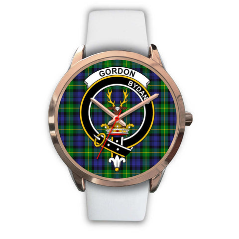 Image of Gordon Modern, Black Metal Link Watch,  leather steel watch, tartan watch, tartan watches, clan watch, scotland watch, merry christmas, cyber Monday, halloween, black Friday