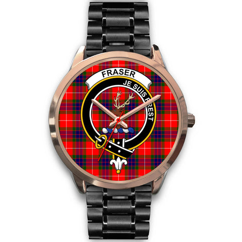 Image of Fraser Modern, Rose Gold Metal Mesh Watch,  leather steel watch, tartan watch, tartan watches, clan watch, scotland watch, merry christmas, cyber Monday, halloween, black Friday