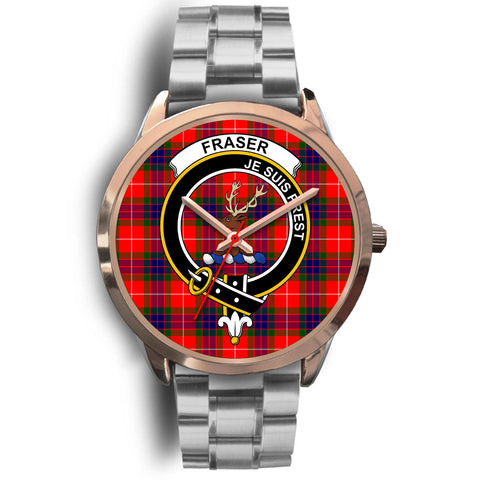 Fraser Modern, Brown Leather Watch,  leather steel watch, tartan watch, tartan watches, clan watch, scotland watch, merry christmas, cyber Monday, halloween, black Friday