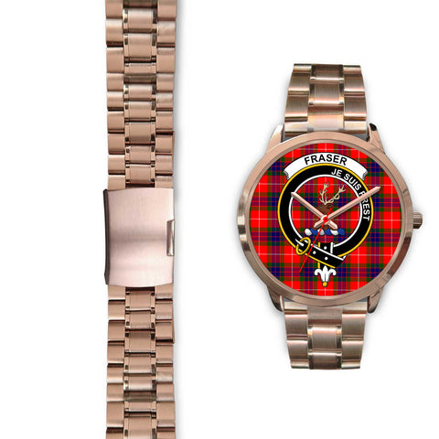 Fraser Modern, Black Leather Watch,  leather steel watch, tartan watch, tartan watches, clan watch, scotland watch, merry christmas, cyber Monday, halloween, black Friday