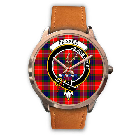 Fraser Modern, Pink Leather Watch,  leather steel watch, tartan watch, tartan watches, clan watch, scotland watch, merry christmas, cyber Monday, halloween, black Friday