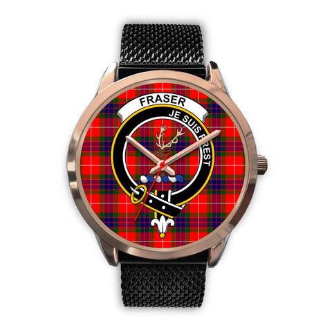 Fraser Modern, Silver Metal Link Watch,  leather steel watch, tartan watch, tartan watches, clan watch, scotland watch, merry christmas, cyber Monday, halloween, black Friday