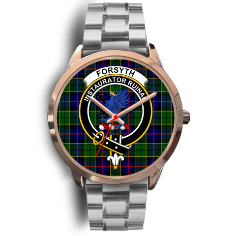 Forsyth Modern, Brown Leather Watch,  leather steel watch, tartan watch, tartan watches, clan watch, scotland watch, merry christmas, cyber Monday, halloween, black Friday