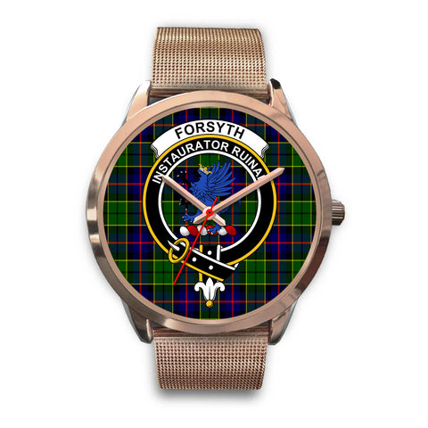 Forsyth Modern, Black Leather Watch,  leather steel watch, tartan watch, tartan watches, clan watch, scotland watch, merry christmas, cyber Monday, halloween, black Friday