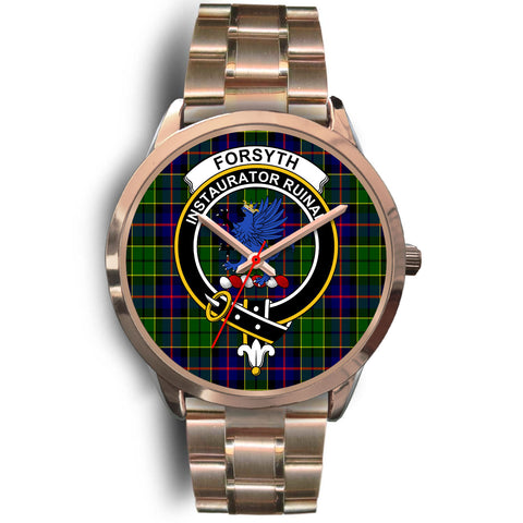 Forsyth Modern, Rose Gold Metal Link Watch,  leather steel watch, tartan watch, tartan watches, clan watch, scotland watch, merry christmas, cyber Monday, halloween, black Friday
