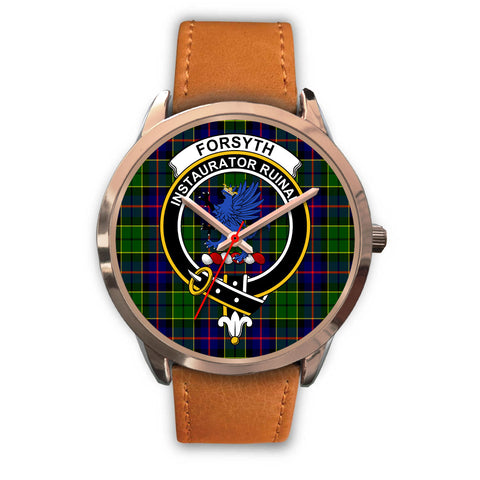 Forsyth Modern, Pink Leather Watch,  leather steel watch, tartan watch, tartan watches, clan watch, scotland watch, merry christmas, cyber Monday, halloween, black Friday