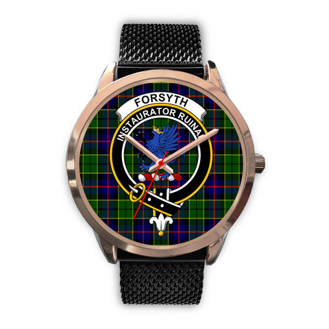 Forsyth Modern, Silver Metal Link Watch,  leather steel watch, tartan watch, tartan watches, clan watch, scotland watch, merry christmas, cyber Monday, halloween, black Friday