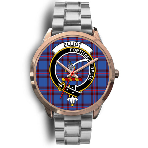 Elliot Modern, Brown Leather Watch,  leather steel watch, tartan watch, tartan watches, clan watch, scotland watch, merry christmas, cyber Monday, halloween, black Friday