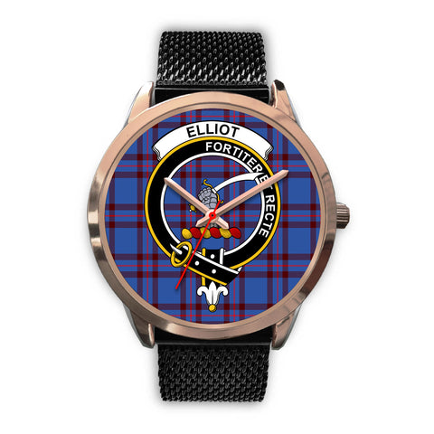 Elliot Modern, Silver Metal Link Watch,  leather steel watch, tartan watch, tartan watches, clan watch, scotland watch, merry christmas, cyber Monday, halloween, black Friday