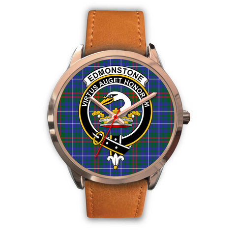 Edmonstone, Pink Leather Watch,  leather steel watch, tartan watch, tartan watches, clan watch, scotland watch, merry christmas, cyber Monday, halloween, black Friday