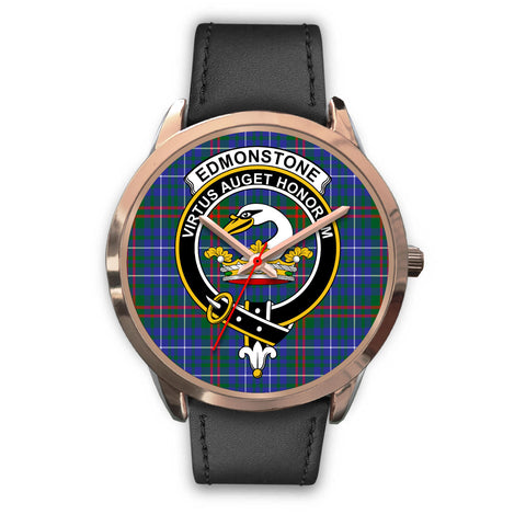 Edmonstone, Black Metal Mesh Watch,  leather steel watch, tartan watch, tartan watches, clan watch, scotland watch, merry christmas, cyber Monday, halloween, black Friday