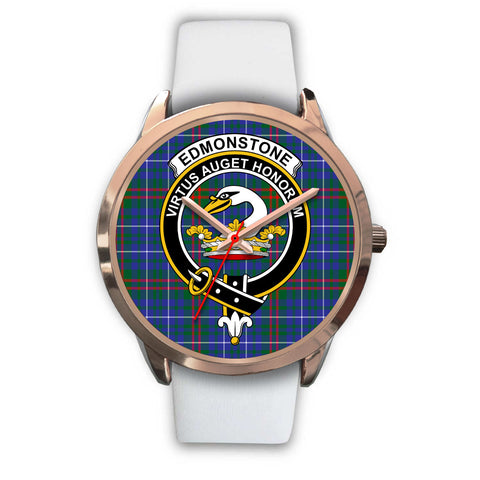 Edmonstone, Black Metal Link Watch,  leather steel watch, tartan watch, tartan watches, clan watch, scotland watch, merry christmas, cyber Monday, halloween, black Friday