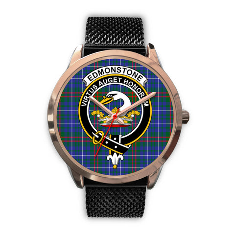 Edmonstone, Silver Metal Link Watch,  leather steel watch, tartan watch, tartan watches, clan watch, scotland watch, merry christmas, cyber Monday, halloween, black Friday