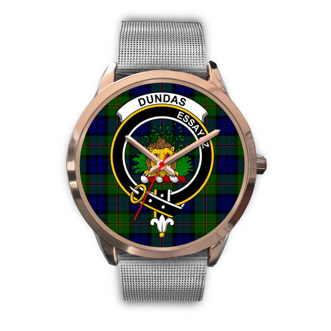 Dundas Modern, Rose Gold Metal Link Watch,  leather steel watch, tartan watch, tartan watches, clan watch, scotland watch, merry christmas, cyber Monday, halloween, black Friday