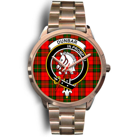 Dunbar Modern, Rose Gold Metal Link Watch,  leather steel watch, tartan watch, tartan watches, clan watch, scotland watch, merry christmas, cyber Monday, halloween, black Friday