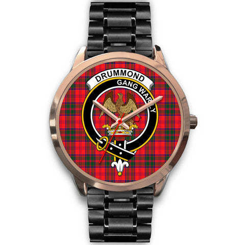 Image of Drummond Modern, Rose Gold Metal Mesh Watch,  leather steel watch, tartan watch, tartan watches, clan watch, scotland watch, merry christmas, cyber Monday, halloween, black Friday
