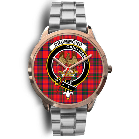 Drummond Modern, Brown Leather Watch,  leather steel watch, tartan watch, tartan watches, clan watch, scotland watch, merry christmas, cyber Monday, halloween, black Friday