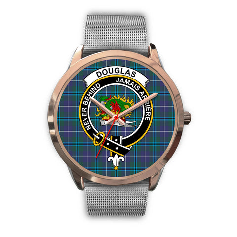 Douglas Modern, Rose Gold Metal Link Watch,  leather steel watch, tartan watch, tartan watches, clan watch, scotland watch, merry christmas, cyber Monday, halloween, black Friday