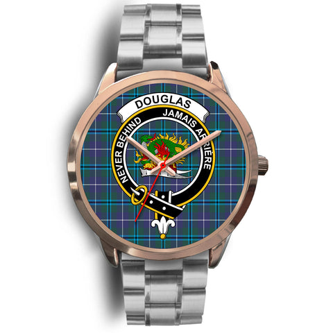 Douglas Modern, Brown Leather Watch,  leather steel watch, tartan watch, tartan watches, clan watch, scotland watch, merry christmas, cyber Monday, halloween, black Friday