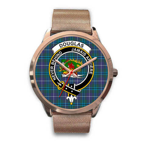 Douglas Modern, Black Leather Watch,  leather steel watch, tartan watch, tartan watches, clan watch, scotland watch, merry christmas, cyber Monday, halloween, black Friday