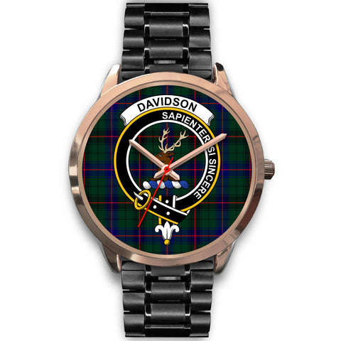 Davidson Modern, Rose Gold Metal Mesh Watch,  leather steel watch, tartan watch, tartan watches, clan watch, scotland watch, merry christmas, cyber Monday, halloween, black Friday