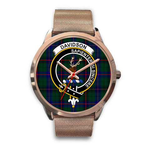 Davidson Modern, Black Leather Watch,  leather steel watch, tartan watch, tartan watches, clan watch, scotland watch, merry christmas, cyber Monday, halloween, black Friday