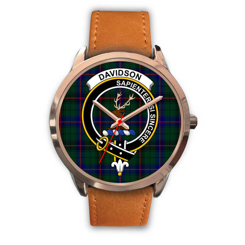 Davidson Modern, Pink Leather Watch,  leather steel watch, tartan watch, tartan watches, clan watch, scotland watch, merry christmas, cyber Monday, halloween, black Friday