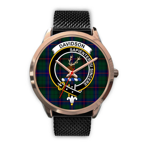 Davidson Modern, Silver Metal Link Watch,  leather steel watch, tartan watch, tartan watches, clan watch, scotland watch, merry christmas, cyber Monday, halloween, black Friday