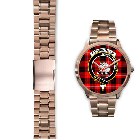 Cunningham Modern, Black Leather Watch,  leather steel watch, tartan watch, tartan watches, clan watch, scotland watch, merry christmas, cyber Monday, halloween, black Friday